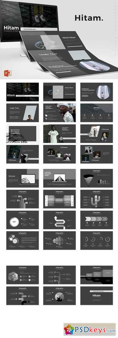 Hitam - Powerpoint, Keynote, Google Sliders Templates