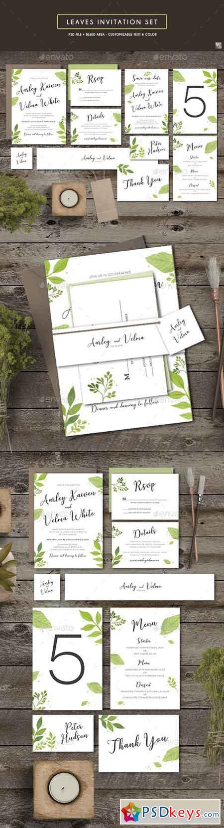 Leaves Invitation Set 19396183