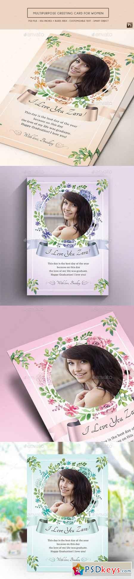 Multipurpose Greeting Card for Women 17587161