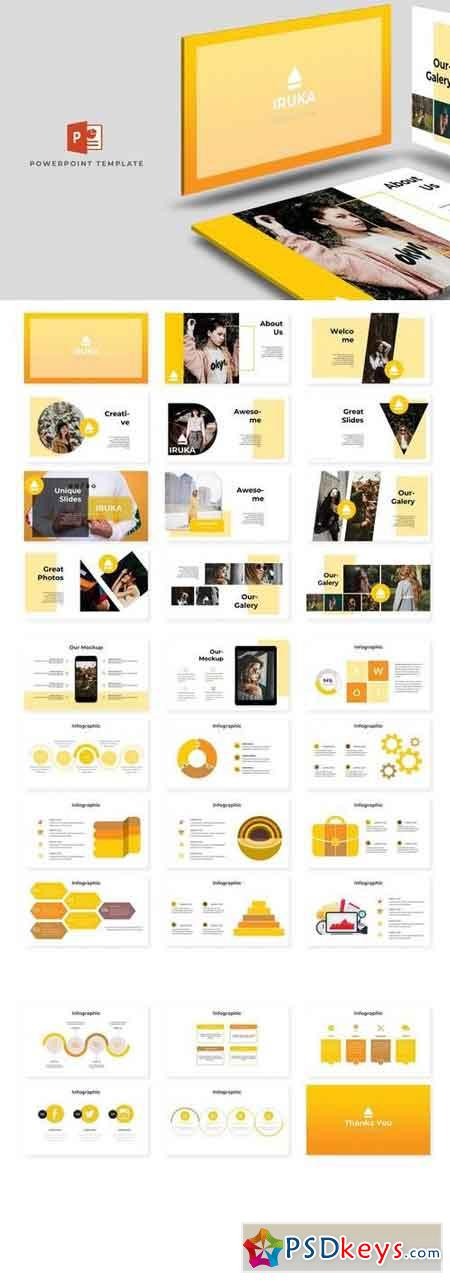 Iruka - Powerpoint, Keynote, Google Sliders Templates