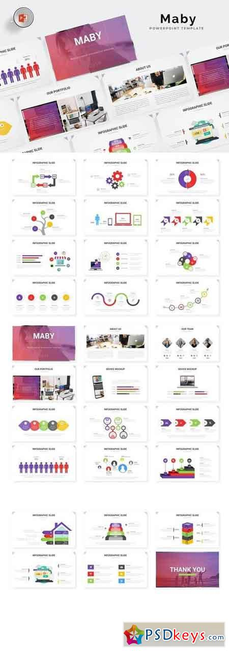 Maby - Powerpoint, Keynote, Google Sliders Templates
