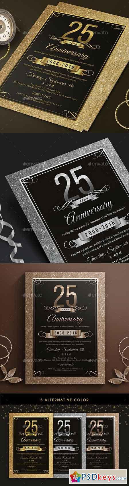 Elegant Anniversary Invitation 18191891