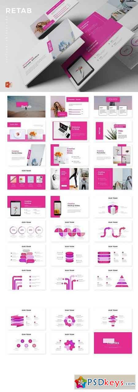 Retab - Powerpoint, Keynote, Google Sliders Templates