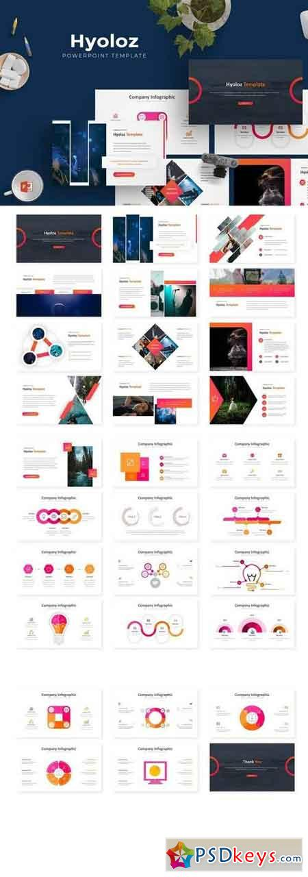 Hyloz - Powerpoint, Keynote, Google Sliders Templates