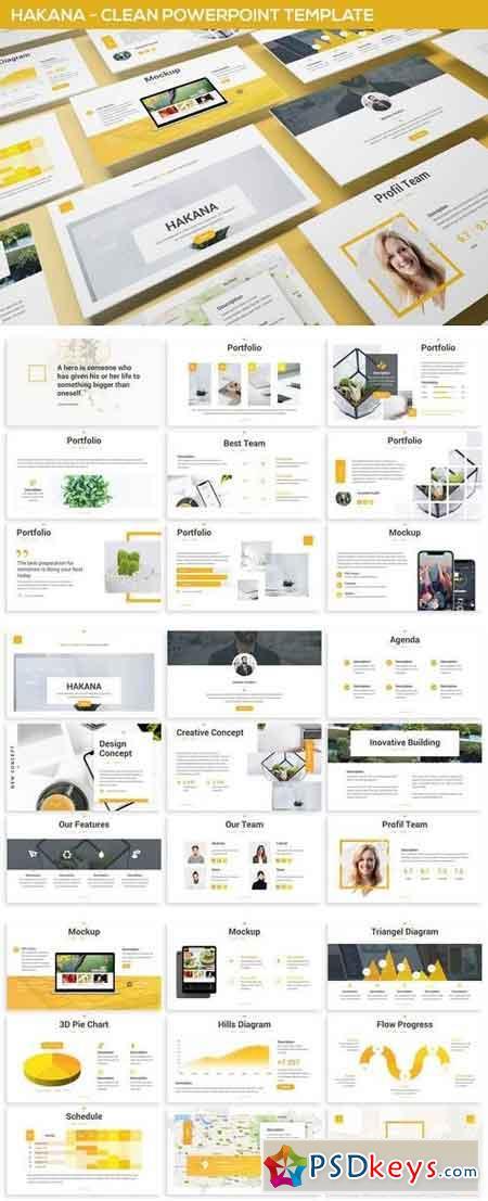 Hakana - Clean Powerpoint Template