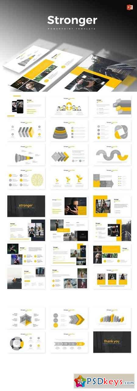 Stronger - Powerpoint, Keynote, Google Sliders Templates 2