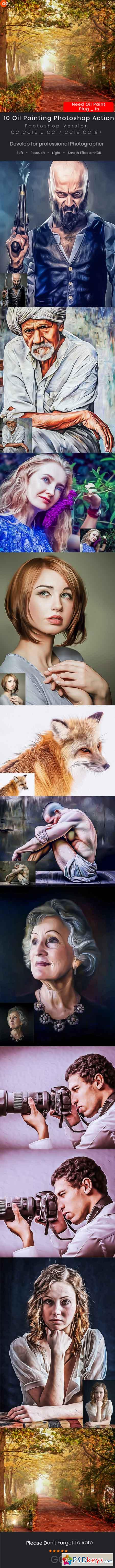 10 Oil Painting Photoshop Action 22851047
