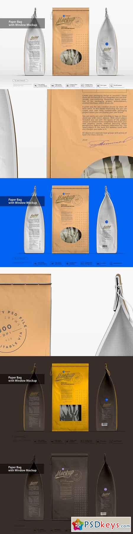 Paper Bag with Window Mockup 3218550