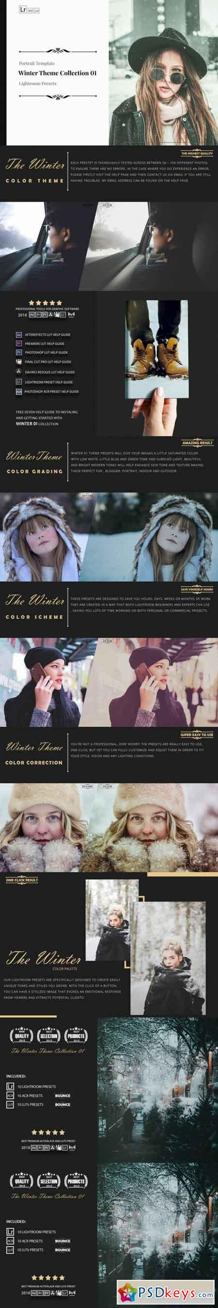 winter Theme Color Grading 01 Premium Lightroom Presets 3510207