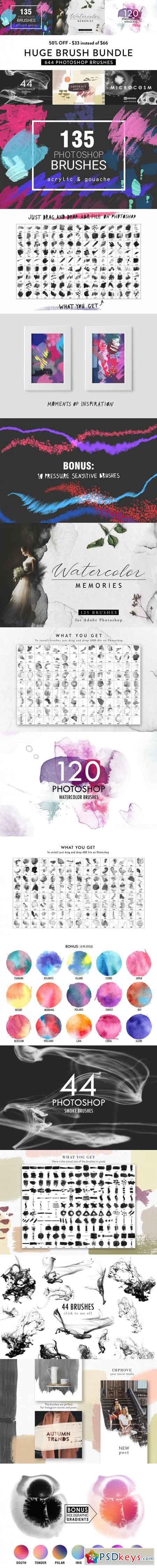 Photoshop Brush Bundle 3509672
