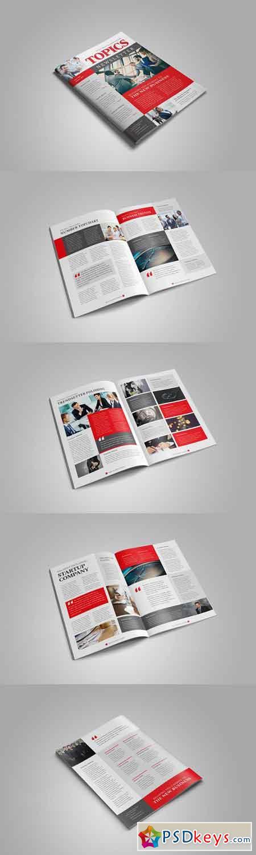 Business Newsletter Template Design 3195695