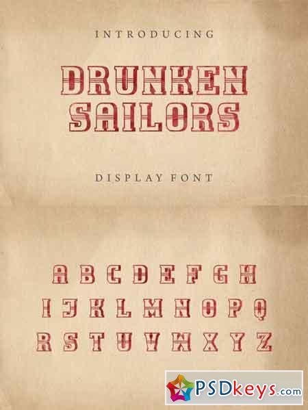 Drunken Sailors display font 3508087
