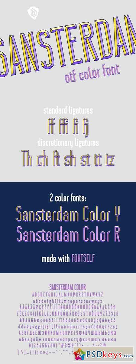 Sansterdam Color Font 2950448