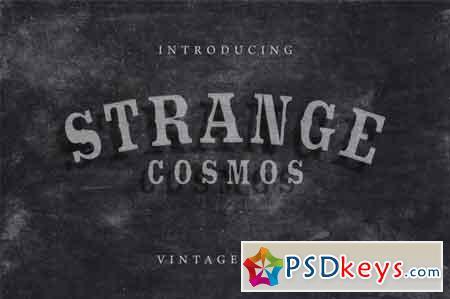 Strange Cosmos - Vintage Font 3508097