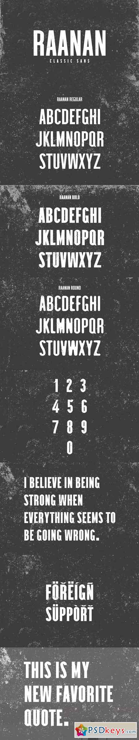 Raanan Classic Sans Serif Family 3188463