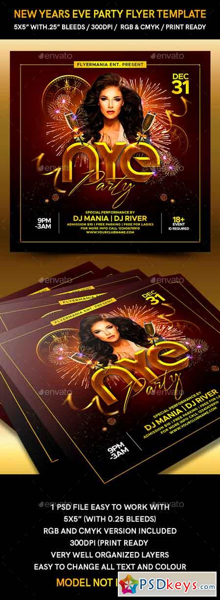 New Years Eve Party Flyer Template 22894499