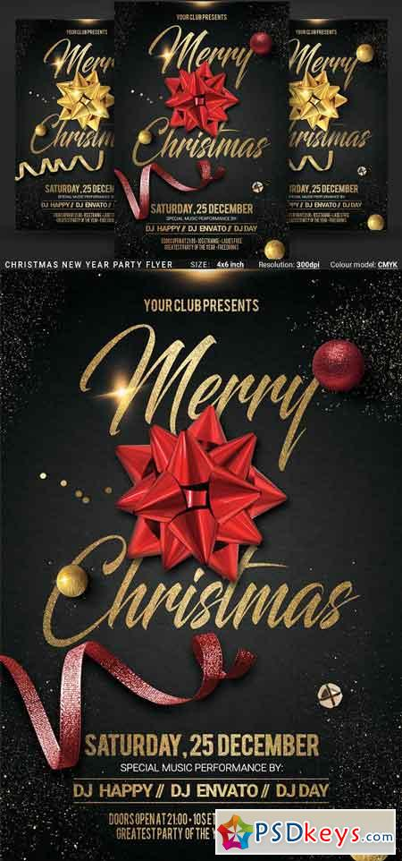 Christmas New Year Party Flyer 3207110