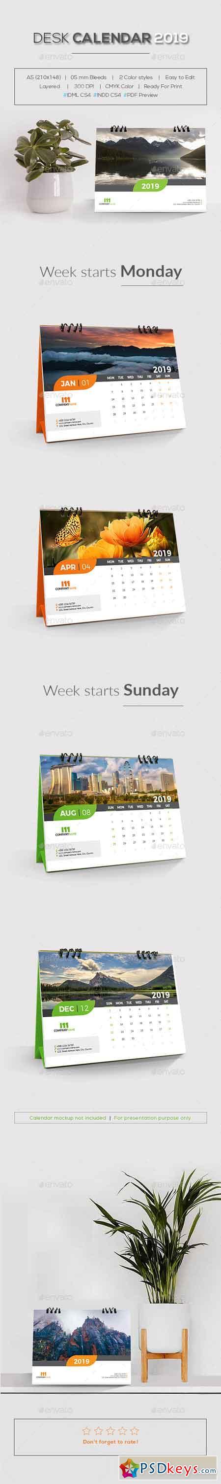 Desk Calendar 2019 22896362