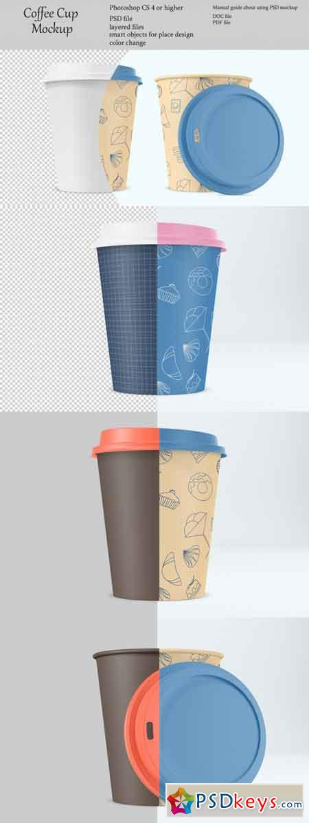 Coffee cup mockup Product place PSD object mockup 3511111