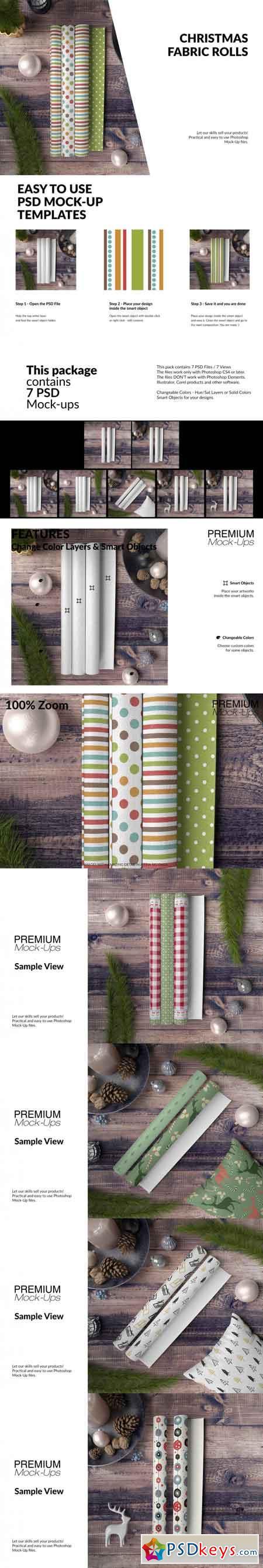 Christmas Fabric Rolls Set 3510865