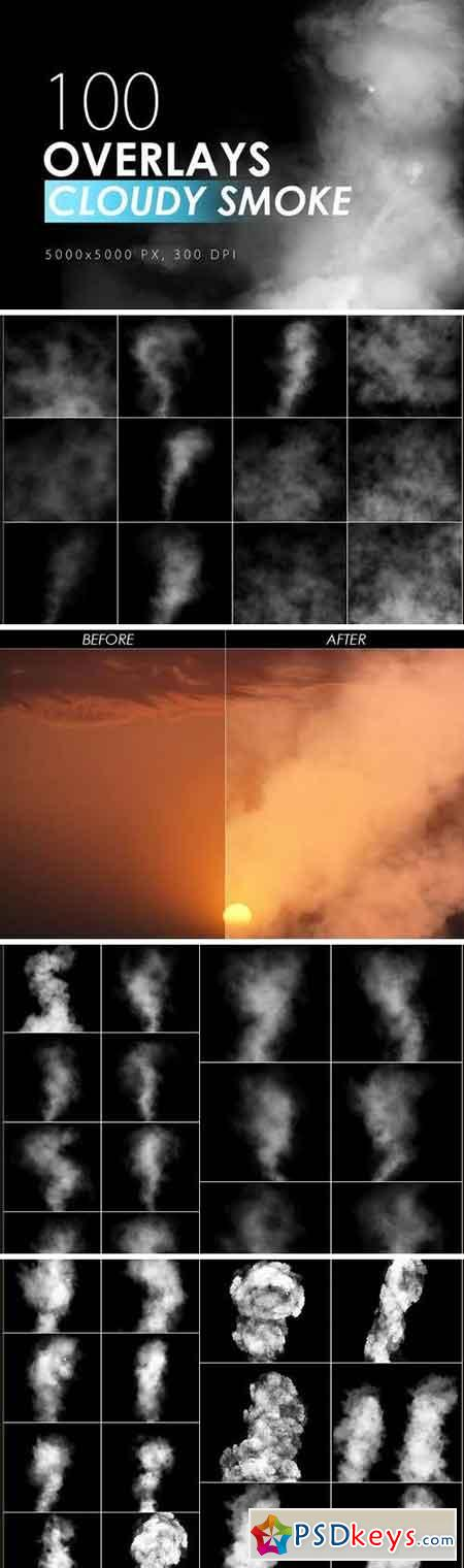 100 Cloudy Smoke Overlays