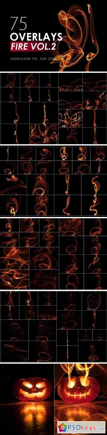 75 Abstract Fire Overlays Vol 2