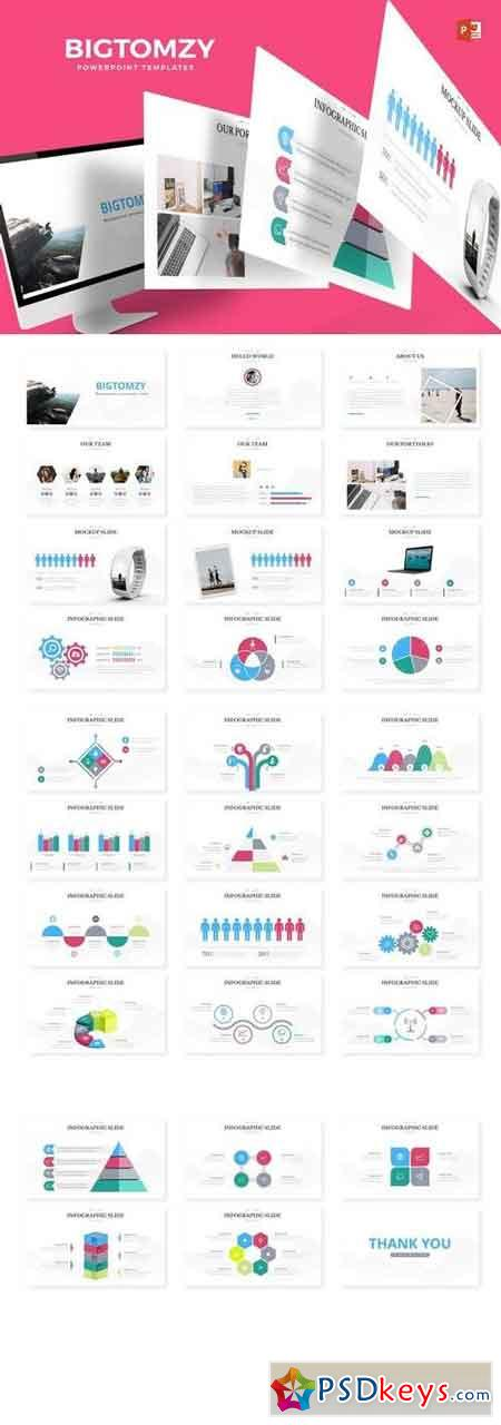 Bigtomzy - Powerpoint, Keynote, Google Sliders Templates