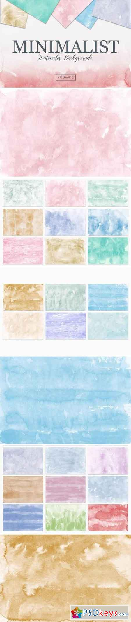 Minimalist Watercolor Backgrounds Vol 2