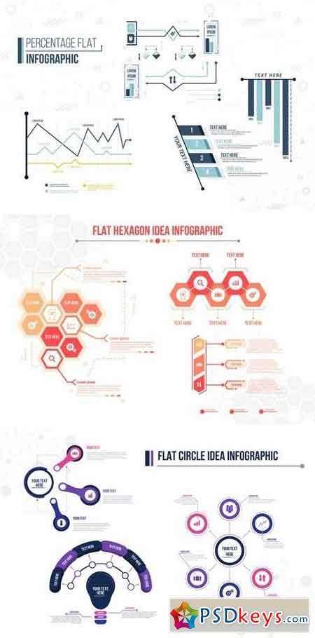 Infographics Elements Bundle 4