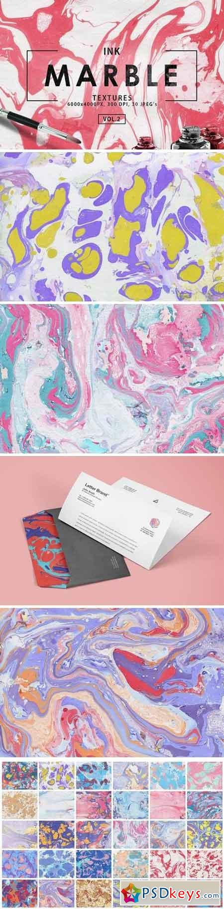 Multicolor Marble Ink Backgrounds Vol 2