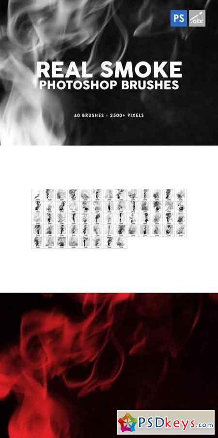 60 Real Smoke Photoshop Stamp Brushes