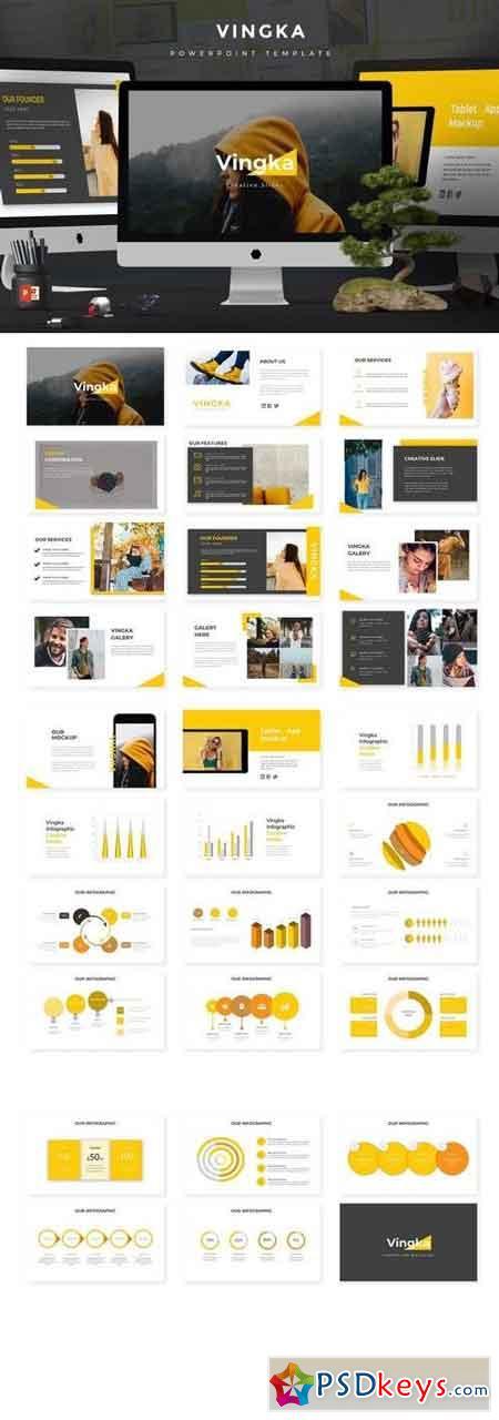 Vingka - Powerpoint, Keynote, Google Sliders Templates