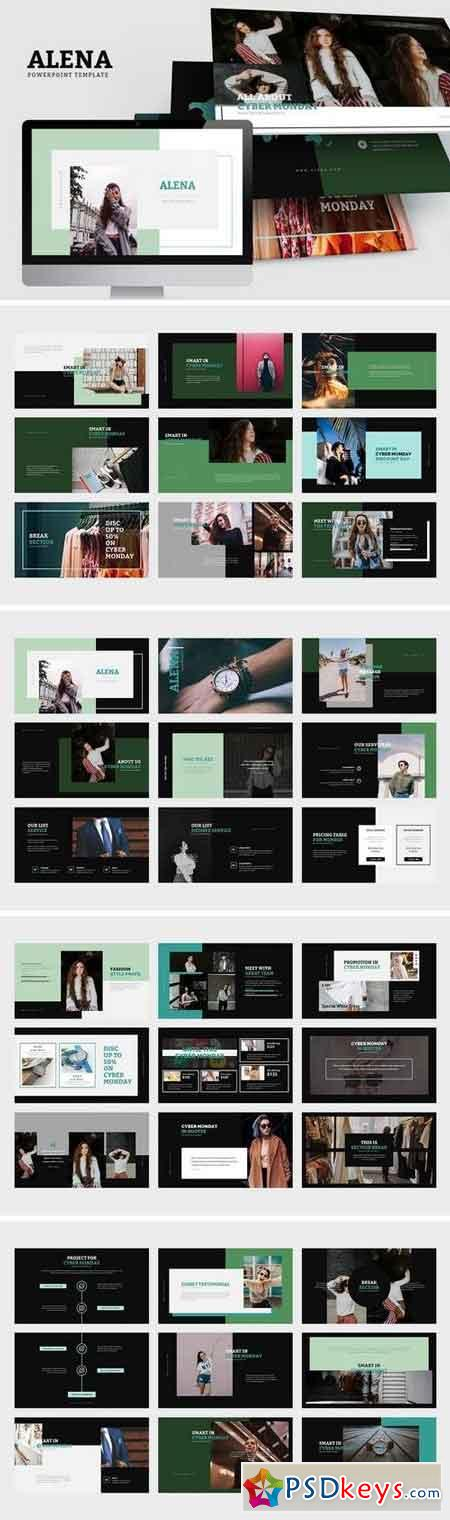 Alena Minimal Style Powerpoint Template