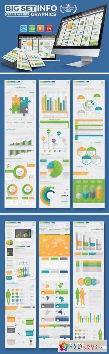 Set Of Modern Infographics Elements Design