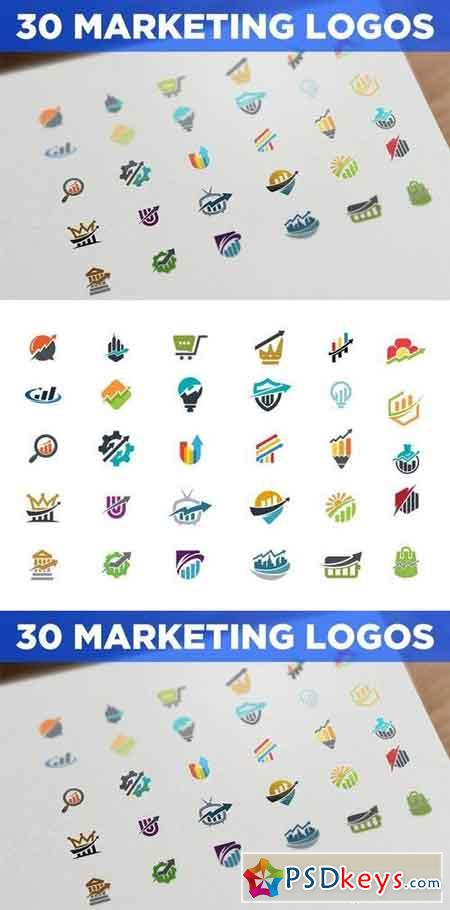 30 Marketing and SEO Logos