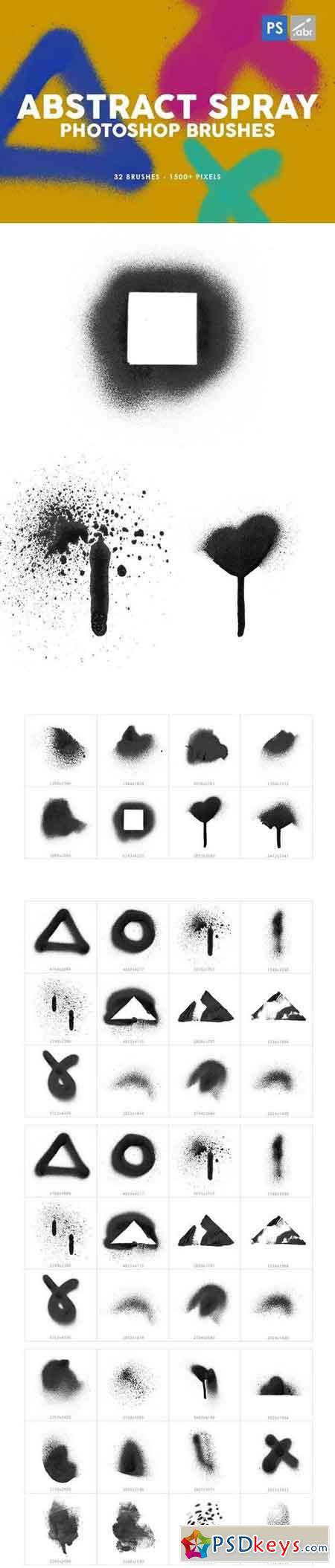 32 Abstract Spray Photoshop Stamp Brushes