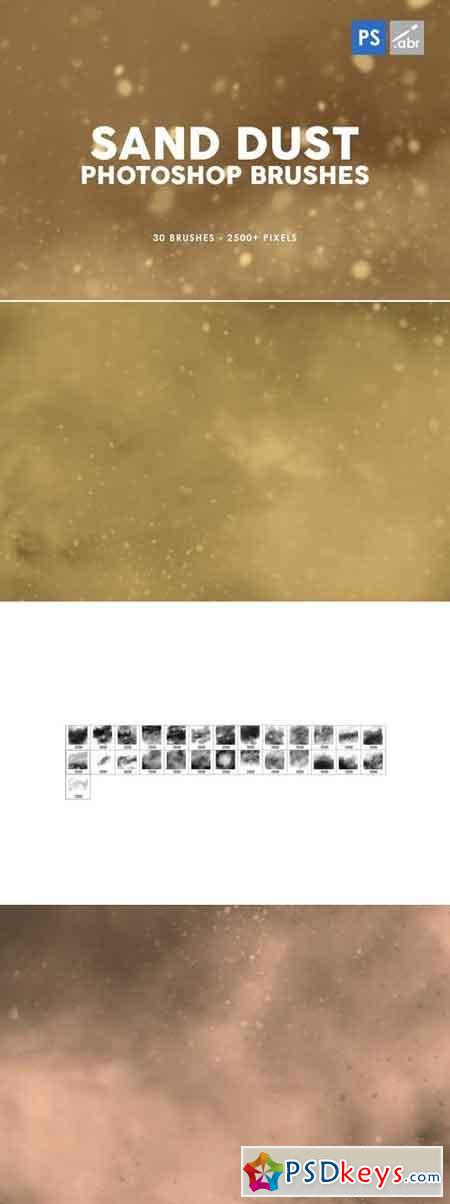 30 Sand Dust Photoshop Stamp Brushes
