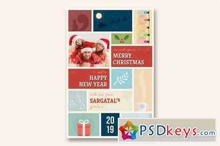 Cute Christmas and New Year Card - Volume 04