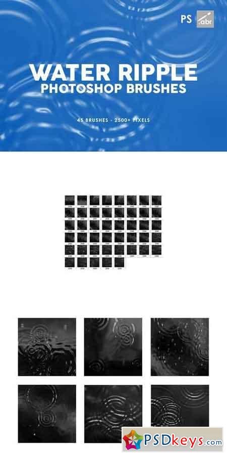 45 Water Ripple Photoshop Brushes