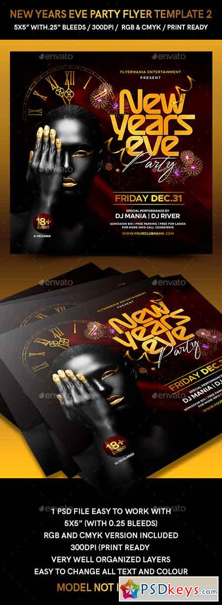 New Years Eve Party Flyer Template 2 22895330