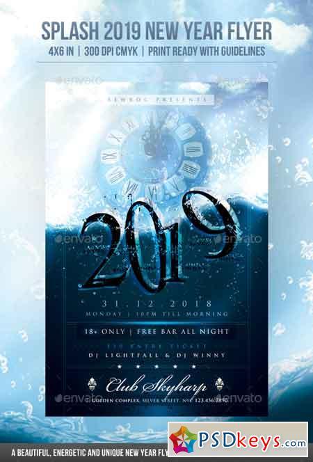 Splash 2019 New Year Flyer 22895438