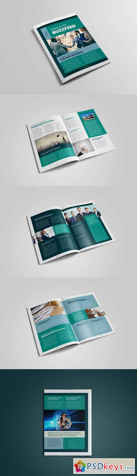 Business Newsletter Template Design 3195697