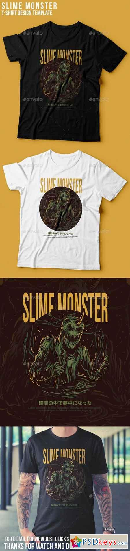 Slime Monster T-Shirt Design 22801488