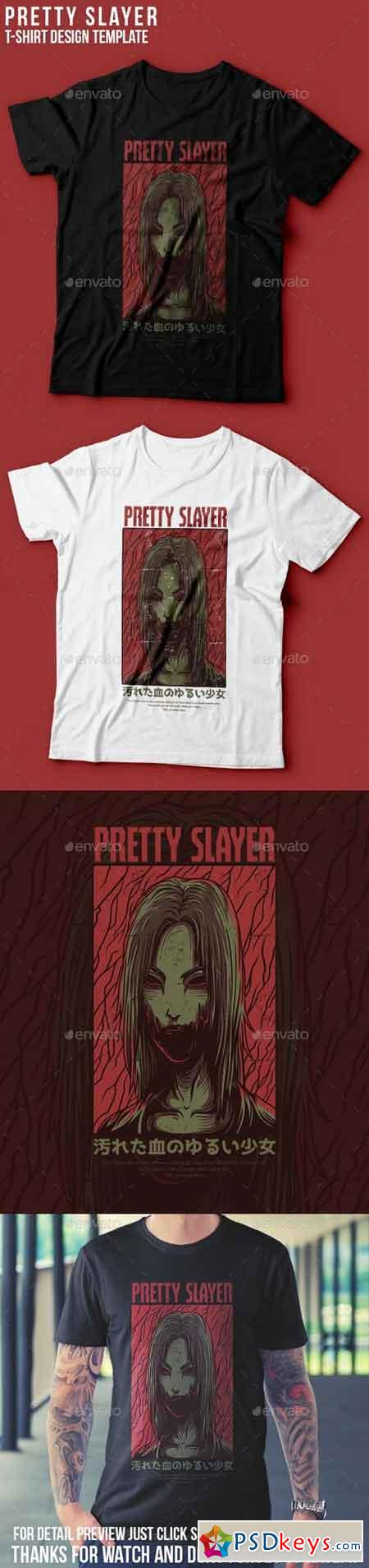 Pretty Slayer T-Shirt Design 22801541