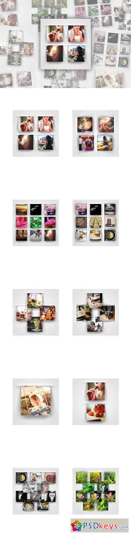 Modern Square Photo Frame Templates