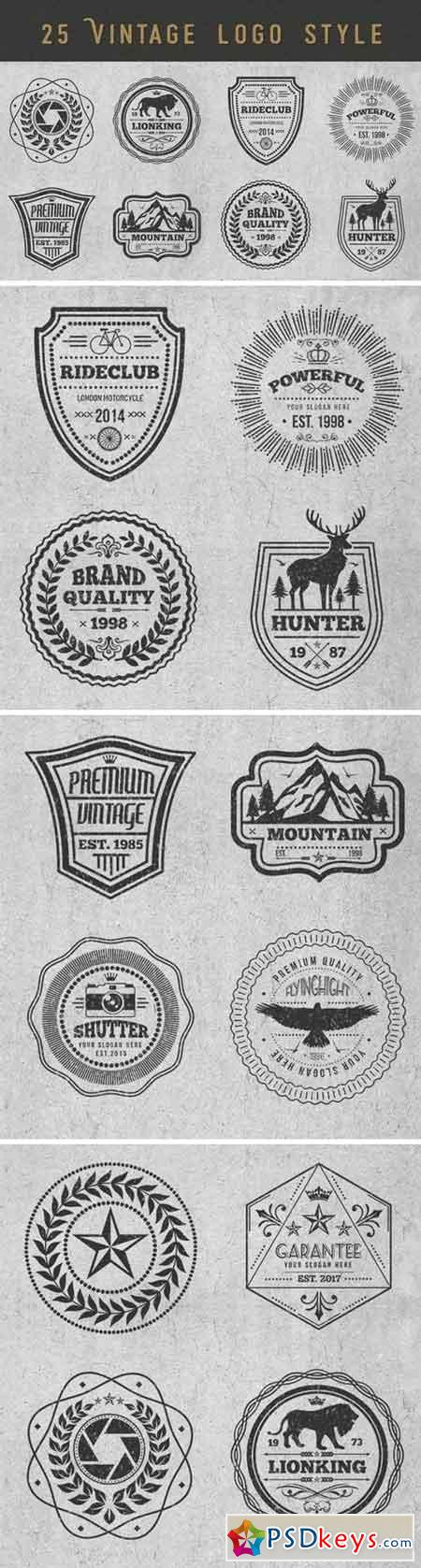 Logos and Badges Vintage Style
