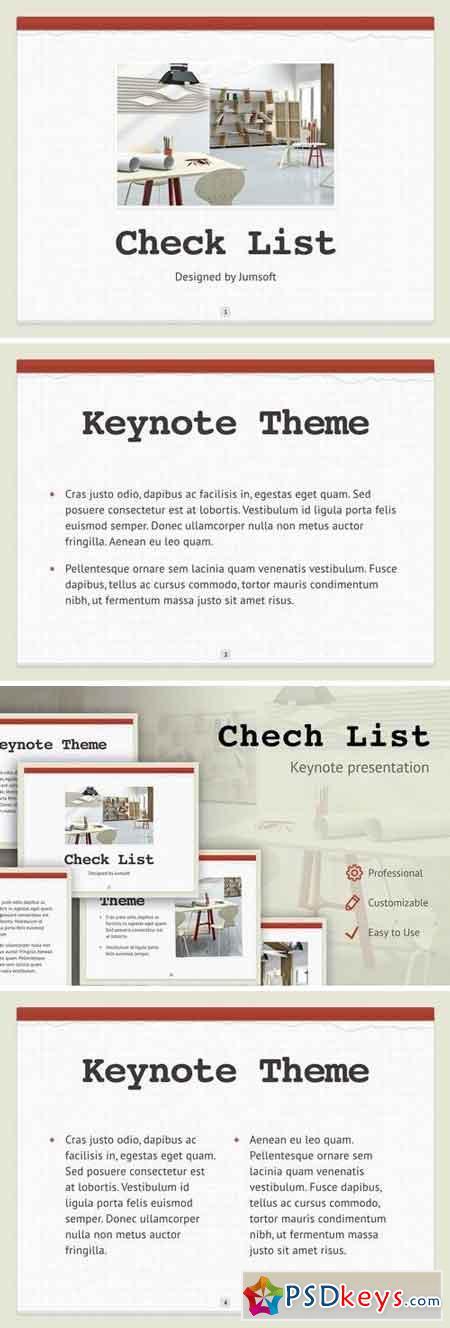 Check List Keynote Template