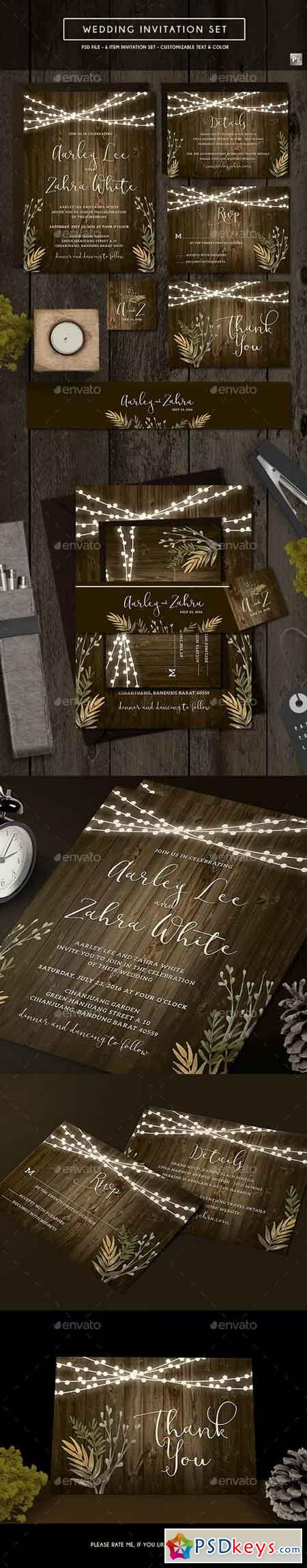 Rustic Wedding Invitation 19580424