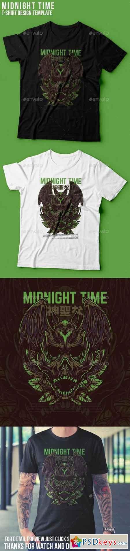 Midnight Time T-Shirt Design 22801479