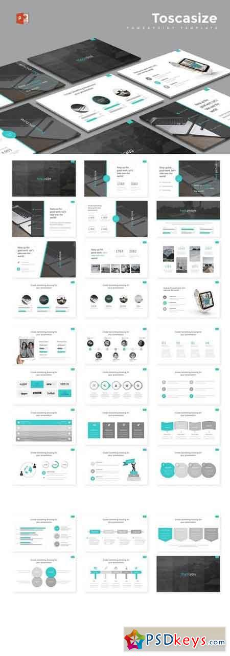 Toscasize - Powerpoint, Keynote, Google Sliders Templates